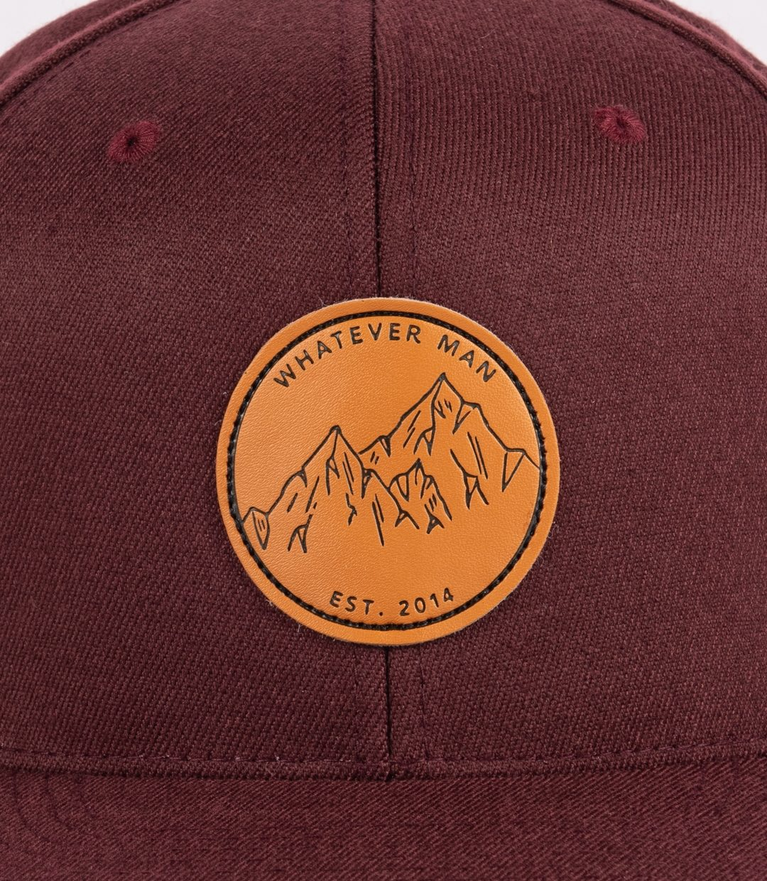 Whatever Man Leather Maroon Detail