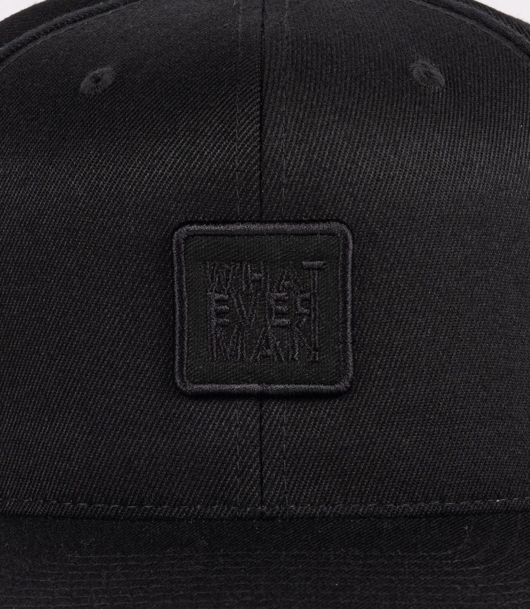 Whatever Man Patch Black Detail